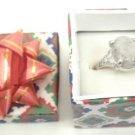 Gray Natural Smooth Stone Gemstone Silver Tone Ring Gift Box Included Christmas