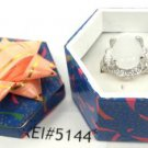 White Natural Stone Gemstone Silver Tone Ring Gift Box Included Xmas