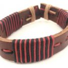 Red Black Brown Wrap Hemp Leather Bracelet Surfer Wristband Ethnic Tribal Cool