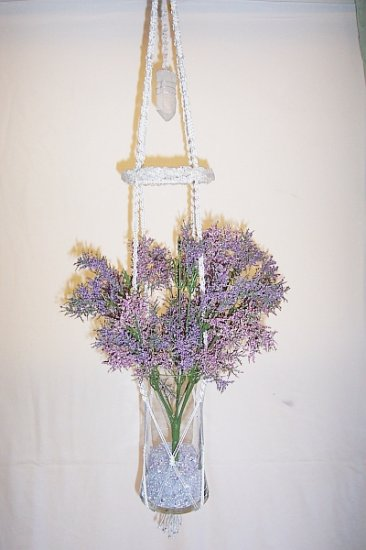 Hanging Clear Quartz Collage Vase