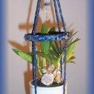 Small Denim Jute & Lapis Plant Hanger