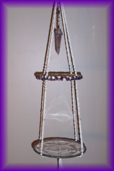 Hanging Amethyst Display Shelf