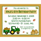 20 Personalized Birthday Invitations - Fall Party - Tractor