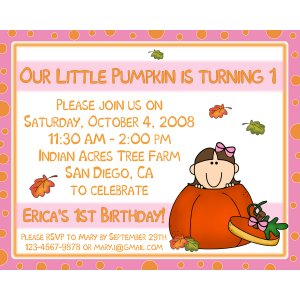 Corn Maze Birthday Invitations http://partyplace123.ecrater.com/p/3252616/20-personalized-birthday-invitations-little-pumpkin