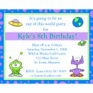 20 Personalized Birthday Invitations - Out of This World