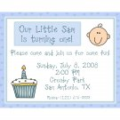 20 Personalized 1st Birthday Invitations for Boy