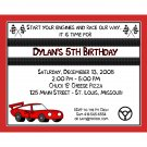 20 Personalized Birthday Invitations - RACE CAR