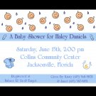 20 Personalized Baby Shower Invitations in BLUE