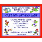 20 Birthday Invitations SUPER HERO PARTY