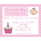 20 Birthday Invitations  Baby Girl's First Birthday
