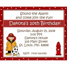 20 Birthday Invitations  Fire Truck