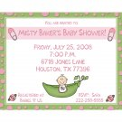 20 Personalized Baby Shower Inviations   PINK SWEET PEA