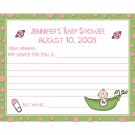 24 Baby Shower Advice Cards - Sweet Pea Theme