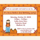 20 Little Pumpkin Fall Birthday Invitations  PERSONALIZED FOR ANY AGE