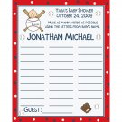 24 Personalized Baby Shower Name Game Cards  Baseball Little Slugger