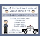 50 Personalized Birthday Invitations  POLICE PARTY THEME