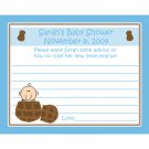 24 Personalized Baby Shower Advice Cards - LITTLE PEANUT