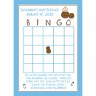 24 Personalized Baby Shower Bingo Game Cards  LITTLE PEANUT
