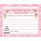 24 Personalized Bridal Shower Advice Cards - BRIDE AND GROOM