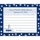 24 Personalized Baby Shower Advice Cards  AHOY IT'S A BOY!