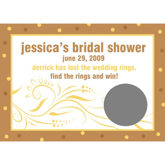 24 Personalized Bridal Shower Scratch Off Game Cards   MODERN BRIDE