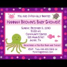 20 Personalized Baby Shower Invitations UNDER THE SEA THEME  PINKS AND PURPLES