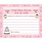 35 Personalized Bridal Shower Advice Cards - BRIDE AND GROOM