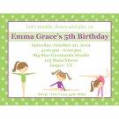20 Personalized Gymnastics Party Birthday Invitations