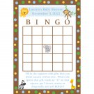 24 Personalized Baby Shower Bingo Cards - Zoo Animals Design