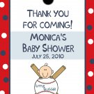 24 Personalized Baby Shower Favor Tags  LITTLE SLUGGER