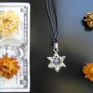 Magen Star of David hamsa necklace against evil eye