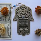 Charm silver hamsa English home bless kabbalah Israel