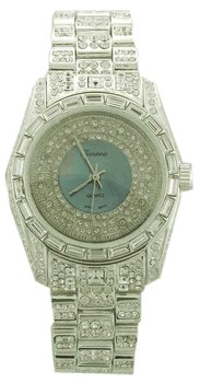 Mother of Pearl Super Iced Out Watch