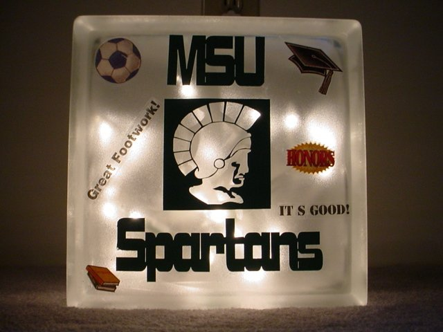 Michigan State Block Nightlight