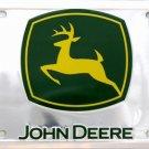 LP-067 John Deere Premium Green & Chrome License Plate