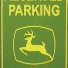 P-027 John Deere Reserved Parking Sign