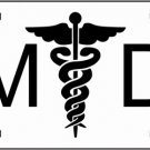 LP-2133 MD Medical Doctor Logo Emblem License Plate