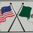 LP-532 USA / Mexico Flags License Plate