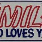 LP-255 Smile God Loves You License Plate