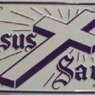 LP-256 Jesus Saves License Plate
