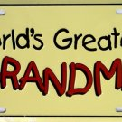 LP-273 World's Greatest Grandma License Plate