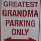P-017 Worlds Greatest Grandma Parking Signs