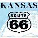 LP-2105 Kansas State Background License Plates - Route 66