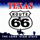 LP-2109 Texas State Background License Plates - Route 66
