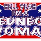 LP-1129 Hell Yeah I'm a Redneck Woman License Plate