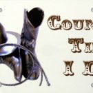 LP-2001 Country Till I Die License Plate