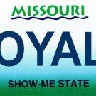 LP-2093 Missouri State Background License Plates - Royals