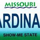 LP-2094 Missouri State Background License Plates - Cardinals