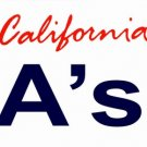 LP-2097 California State Background License Plates - A's