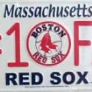 LP-623 Red Sox #1 Fan License Plate